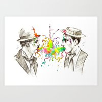 The Tramp V. Stone Face Art Print