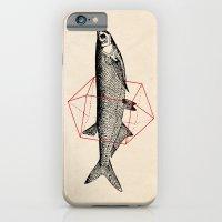iPhone & iPod Case featuring Fish In Geometrics II by Speakerine / Florent Bodart