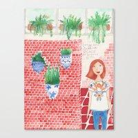 princesa mexicana queriendose quedar quieta Canvas Print