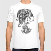Day Of The Dead Girl Mens Fitted Tee White SMALL