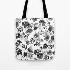 Floret Black and White Tote Bag