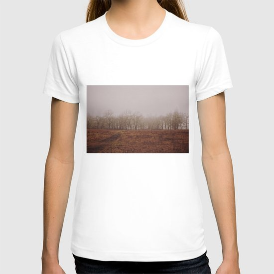 Foggy Trail to the Trees T-shirt