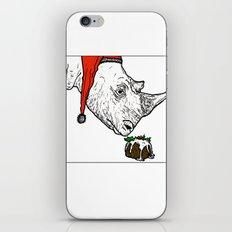 Christmas Rhino iPhone & iPod Skin