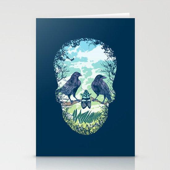 Nature's Skull Stationery Card