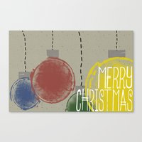 Merry Christmas Ornaments Canvas Print