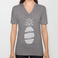 Pineapples (Dark/Sliced) Unisex V-Neck