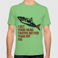 Your head tastes better Mens Fitted Tee Grass SMALL