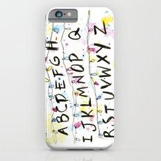 Stranger Things Alphabet Christmas Lights iPhone 6s Slim Case