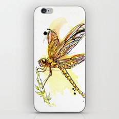 Gold Dragonfly iPhone & iPod Skin