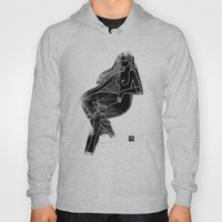 Seated Figure Black Hoody
