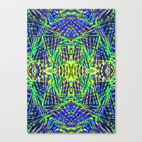 Tribal green Canvas Print