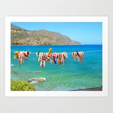 Hung Octopus (Creete) Art Print