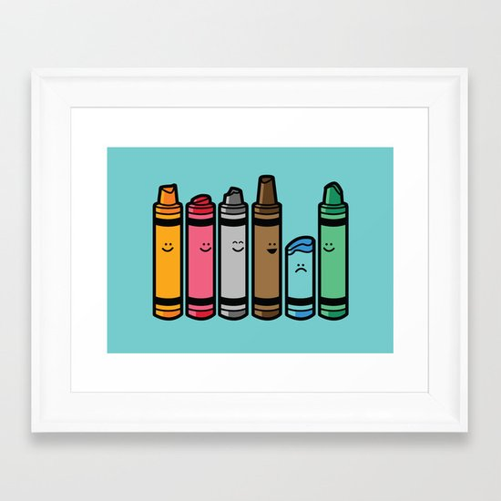 Overused Framed Art Print