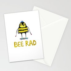 Bee. bee art, bee illustration, nature, illustration, wall, kids, skater, skateboarding, rad,  Stationery Cards