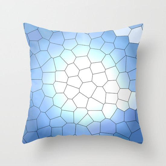 IRREGULAR LIGHT BLUE Throw Pillow