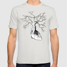 Love root Mens Fitted Tee Silver SMALL