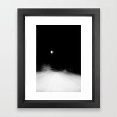 nighttime. Framed Art Print