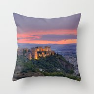 The Alhambra And Granada… Throw Pillow