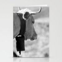 cow Stationery Cards featuring Cow by Crazy Thoom