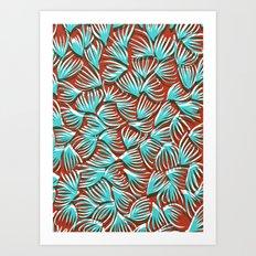 Hand Drawn and Digital Pattern Print Art Print