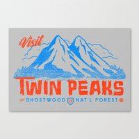 Visit Twin Peaks (orange) Canvas Print