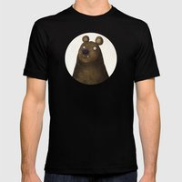 Bear Mens Fitted Tee Black SMALL
