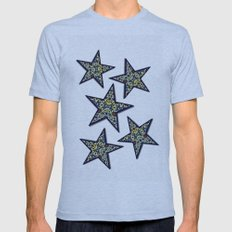 Wooded Garden Mens Fitted Tee Athletic Blue SMALL