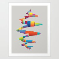 After the earthquake Art Print