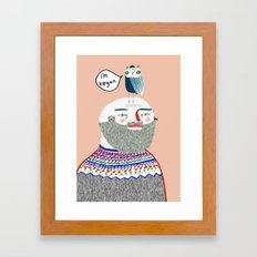 I'm Vegan. Vegan art, vegan, illustration, funny, vegan print Framed Art Print