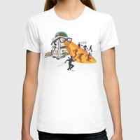 Bad Day At The Office Womens Fitted Tee White SMALL