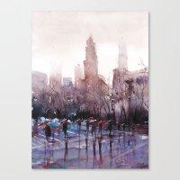 New York - Rainy day Canvas Print