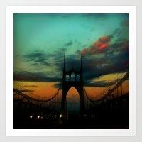 Bridge To Portland - St.… Art Print