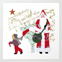 A French Script Christma… Art Print