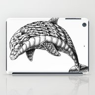 iPad Case featuring Ornate Dolphin by BIOWORKZ