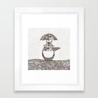 Happy Totoro Framed Art Print
