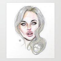 Lindsay By Lucas David 2015 Art Print