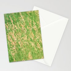 Green Grasses Stationery Cards