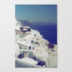 Santorini White & Blue Canvas Print
