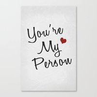 You Are My Person 01 Canvas Print