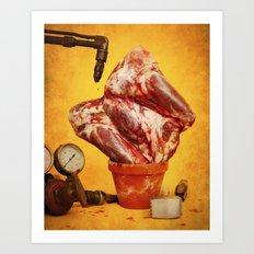 Foodscapes II: Growing meat Art Print