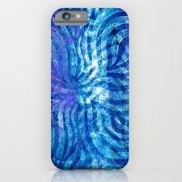Blue curving iPhone 6 Slim Case