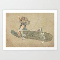 Skate Rat  Art Print