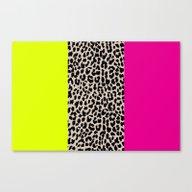 Leopard National Flag X Canvas Print