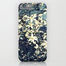 White magnolia tree iPhone 6 Slim Case