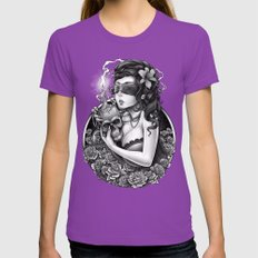 Winya No. 86 Womens Fitted Tee Ultraviolet SMALL