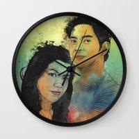 Gidget And Nino Wall Clock