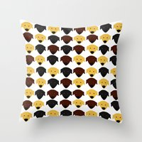 Labrador dog pattern Throw Pillow