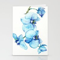 Blue Orchids - Watercolor Stationery Cards