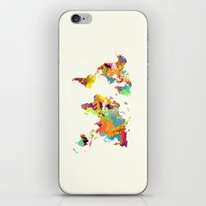 world map color art 2 iPhone & iPod Skin