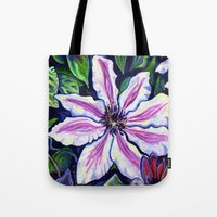 Nelly Moser (Clematis) Tote Bag